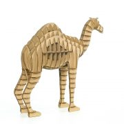 Camel 3d puzzle cardboard left