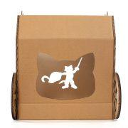 Carriage Cardboard Cat House entrance – true aristo-cat in a fairy tale