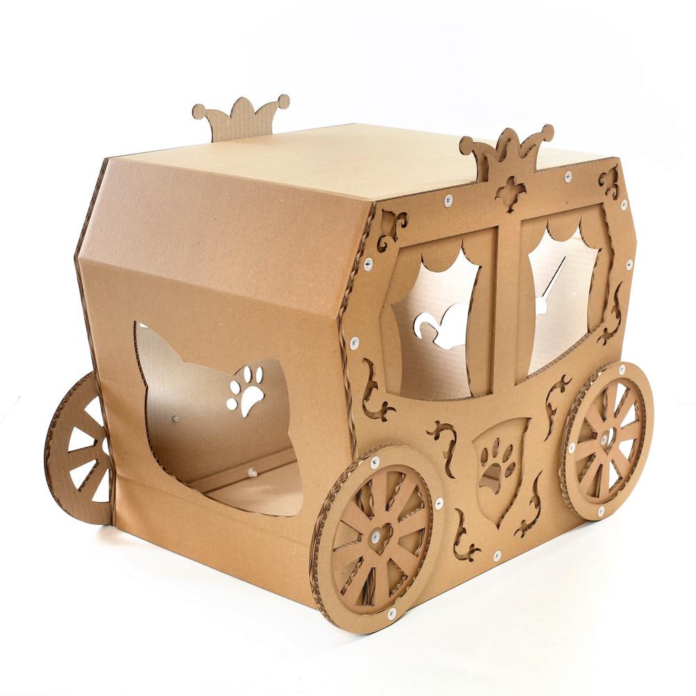 Cat House Carriage Cardboard Cat House True Aristo Cat In A Fairy Tale