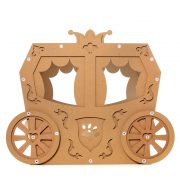 Carriage Cardboard Cat House front view – true aristo-cat in a fairy tale