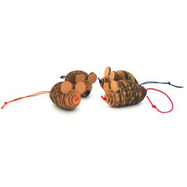 Cat Toy Cardboard Mice 3D four