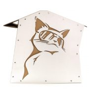 Cool Summer Cardboard Cat House left right – summer nap in a lazy afternoon