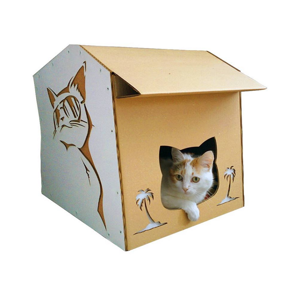 Cardboard House For Cats Modern Cardboard Cat House A Modern Explorer On A Night Out