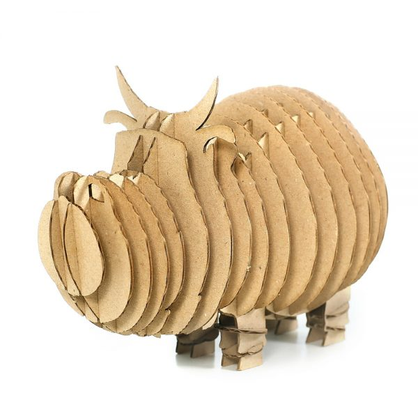 Cow 3d cardboard puzzle front left