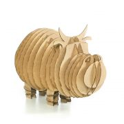 Cow 3d cardboard puzzle front right