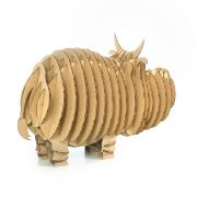 Cow 3d cardboard puzzle rear right