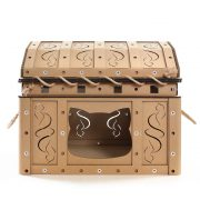 Dead Man's Chest Cardboard Cat House front entrance – revive dreams of treasure hunts