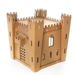 Fortress Cardboard Cat House top back right – medieval toy for your fluffy