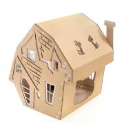 Halloween Cardboard Cat House front left – focus-pawcus brought to you