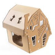 Halloween Cardboard Cat House right front – focus-pawcus brought to you