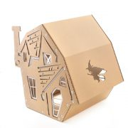 Halloween Cardboard Cat Houseright rear back view – focus-pawcus brought to you