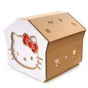 Hello Kitty Cardboard Cat House back right – cutest cat cave ever for curious kitties