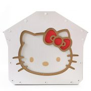 Hello Kitty Cardboard Cat House left right – cutest cat cave ever for curious kitties