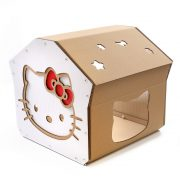 Hello Kitty Cardboard Cat House left top – cutest cat cave ever for curious kitties
