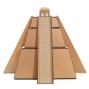 Mayan Pyramid Cardboard Cat House back – revealing the great Maya civilization