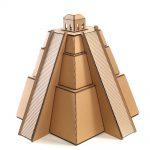 Mayan Pyramid Cardboard Cat House back left – revealing the great Maya civilization