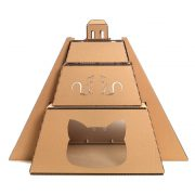 Mayan Pyramid Cardboard Cat House entrance – revealing the great Maya civilization