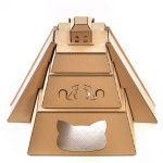 Mayan Pyramid Cardboard Cat House front top – revealing the great Maya civilization
