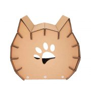 Meow Cardboard Cat House back - fashion statement in your living room