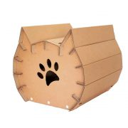 Meow Cardboard Cat House back right - fashion statement in your living room