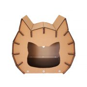 Meow Cardboard Cat House entrance - fashion statement in your living room