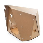 Origami Cardboard Cat House front right – Japanese decision of savoir-vivre
