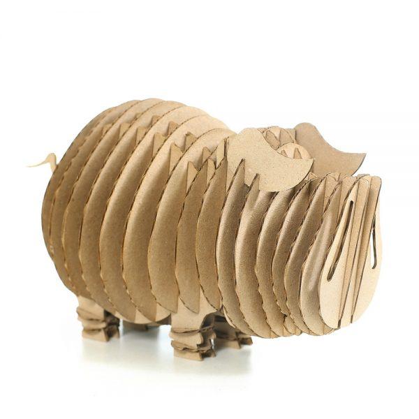 Pig 3D Cardboard puzzle front left