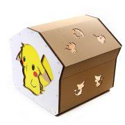Pokemon Cardboard Cat House top back right – kitty addicted to Pokemon adventure