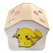 Pokemon Cardboard Cat House top left right – kitty addicted to Pokemon adventure