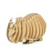 Rhino 3D Cardboard Puzzle front left