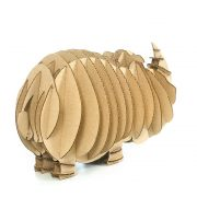 Rhino 3D Cardboard Puzzle rear right