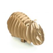 Rhino 3D Cardboard Puzzle top front right