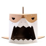 Shark Cardboard Cat House entrance – live on the edge and stay safe