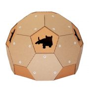 Soccer Cardboard Cat House back1 – football outside and refuge inside