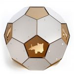 Soccer White Cardboard Cat House backHouse – more than ball toy but a sanctuary