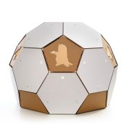 Soccer White Cardboard Cat House rightHouse – more than ball toy but a sanctuary