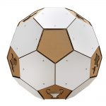 Soccer White Cardboard Cat House topHouse – more than ball toy but a sanctuary