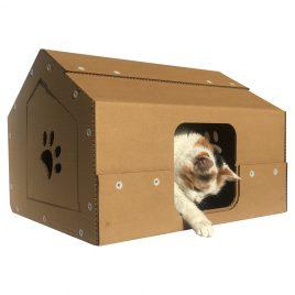 Studio Cardboard Cat House with cat1