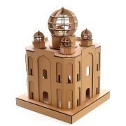 Taj Mahal Cardboard Cat House back left – masterpiece for your kitty explorer