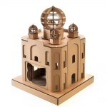 Taj Mahal Cardboard Cat House front right – masterpiece for your kitty explorer