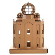Taj Mahal Cardboard Cat House rear back – masterpiece for your kitty explorer