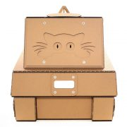 Tank Cardboard Cat House back – military spirit awakens in your kitty