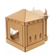 The Temple Cardboard Cat House back left – brings kittens and gods together