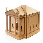 The Temple Cardboard Cat House front right – brings kittens and gods together