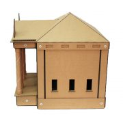 The Temple Cardboard Cat House right left – brings kittens and gods together