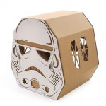 Trooper Cardboard Cat House back left – force awakens