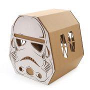 Trooper Cardboard Cat House back left – force awakens