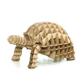 Turtle 3D Cardboard Puzzle front left