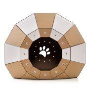 Twist Cardboard Cat House entrance – a magic tunnel to endless feline joy