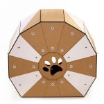 Twist Cardboard Cat House rear back – a magic tunnel to endless feline joy